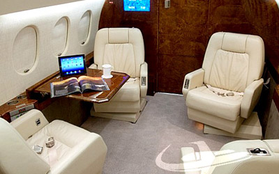 Private aircraft interior services